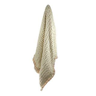 Tabitha Wool Blend Throw 125x150cm Ivor#