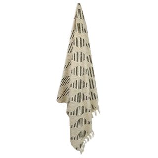 Farley Cotton Throw 125x150cm Nat/Green#