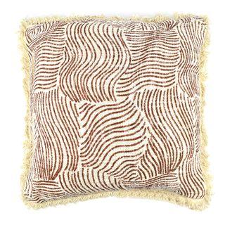 Farlow Cotton Cushion 50x50cm Nat/Rust#