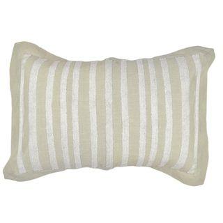 Nina Cotton Emb Cushion 40x60cm Nat/Wht