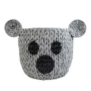 Kelly Koala Woven Basket 46x35cm Grey