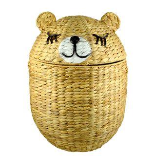 Bella Bear Woven Basket W Lid 41x53cm