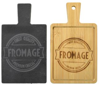 11x19x1cm Slate/Bamboo Serving Boards