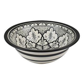 Aleah Ceramic Bowl 28.5x28.5x9cm-Blk/Whi
