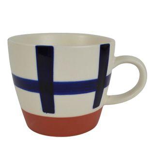 Sawyer Ceramic Mug 12x8cm White/Navy