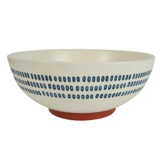 Sawyer Ceramic Bowl 20x7.5cm White/Navy