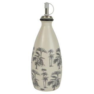 Augusta Cer Oil Bottle 7.5x18cm Wht/Grey
