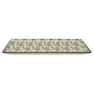 Augusta Ceramic Rect Plate 34x15cm Grey