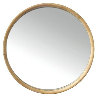 Inga Oak Round Mirror 90cm- Natural