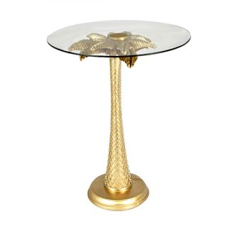 Antigua Palm Tree Side Table 40x51cm Gld