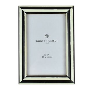 "CROWLEY RESIN 4x6"" FRAME 13x18cm-BLK/IVO"