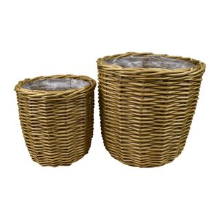 Lika S/2 Willow Planters 32x31cm-Natural