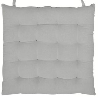 40x40cm Cotton Quilt Chairpad Grey#