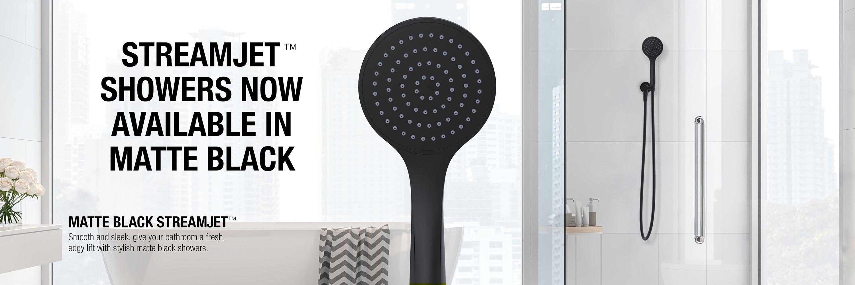 Matte Black Streamjet Shower
