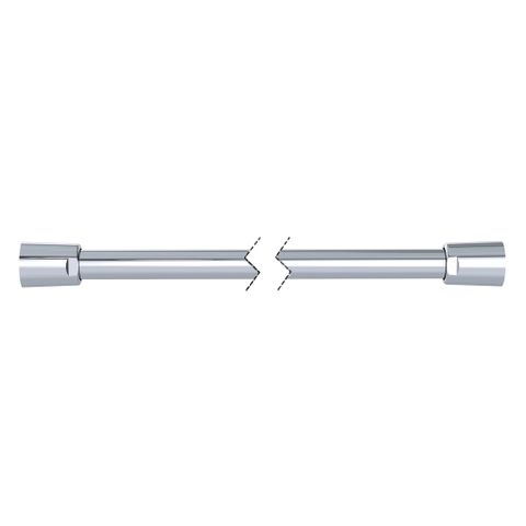 1500mm Silverflex Smooth PVC Hose - Chrome