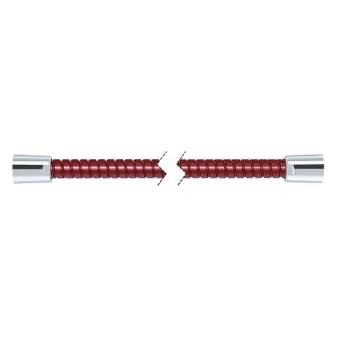 1500mm Softflex Spiral PVC Hose - Burgundy/Chrome