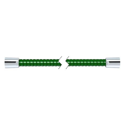 1500mm Softflex Spiral PVC Hose - Green/Chrome