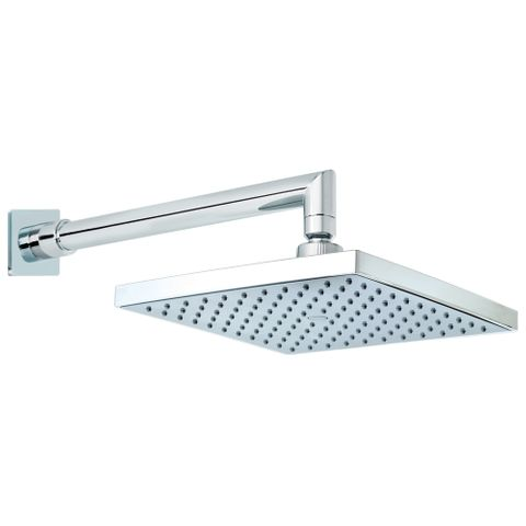 Quewb Horizontal Wall Shower - Chrome