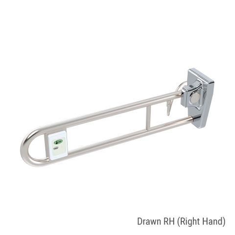 Tiltlock Folding Rail + Nurse Call Box SS - RH