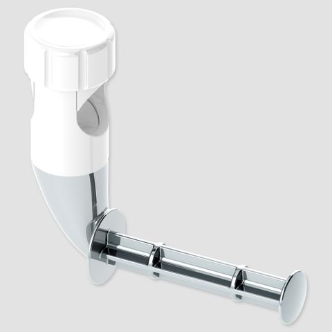 Grab Rail Flexible Roll Holder - White
