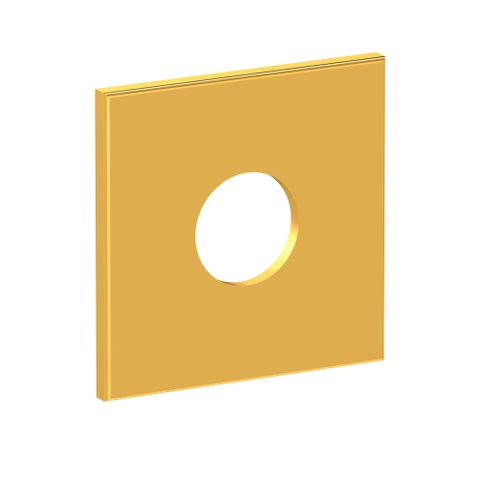 Square Wall Flange - Gold
