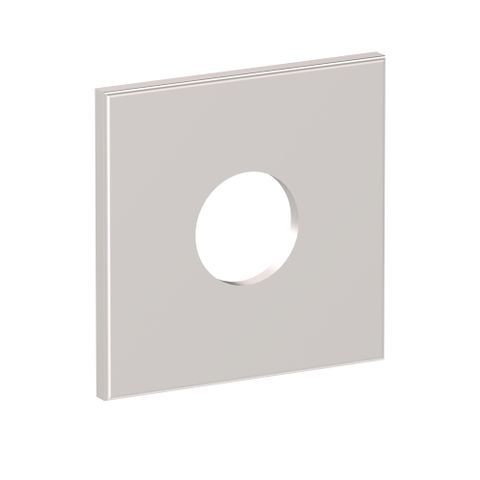 Square Wall Flange - Satin Compeltely