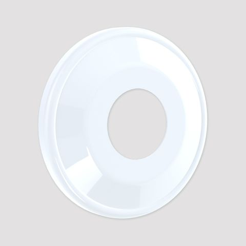 Domed Wall Flange - White