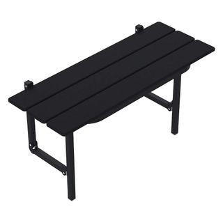 Slatted Folding Shower Seat - Matte Black