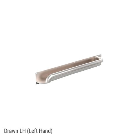 Anti-Ligature Horizontal Rail SS 450mm - LH