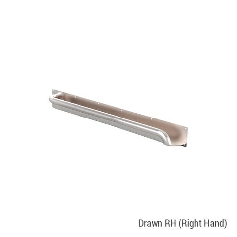 Anti-Ligature Horizontal Rail SS 600mm - RH