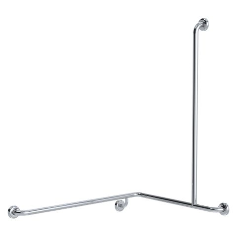 CF Cnr Shower Rail PS 760x1000x1100mm - RH