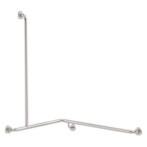 CF Cnr Shower Rail SS 760x1000x1100mm - LH