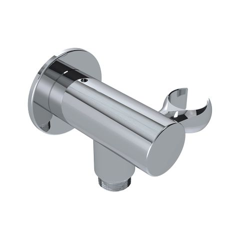 85mm Wall Outlet Elbow Bracket Chrome - 9L