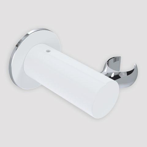 Wall Mount Handset Bracket - White/Chrome