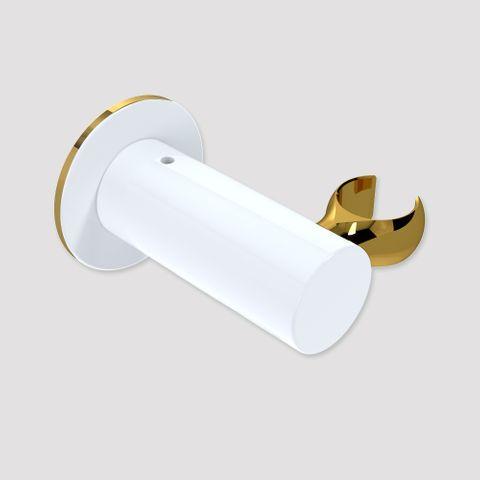Wall Mount Handset Bracket - White/Gold
