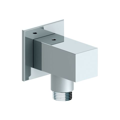 55mm Square Wall Outlet Elbow Chrome - 12L