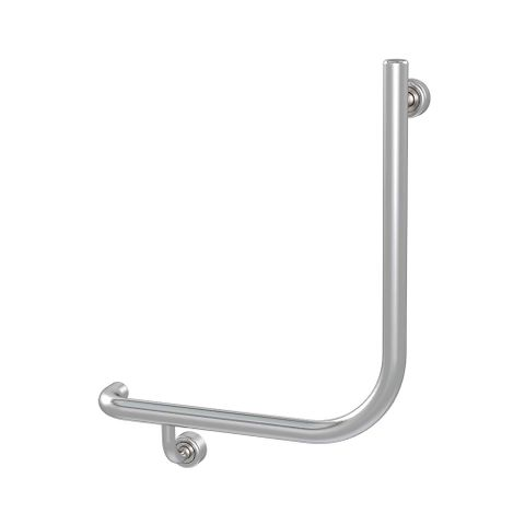 Linear Toilet Rail SS 450x450mm - LH