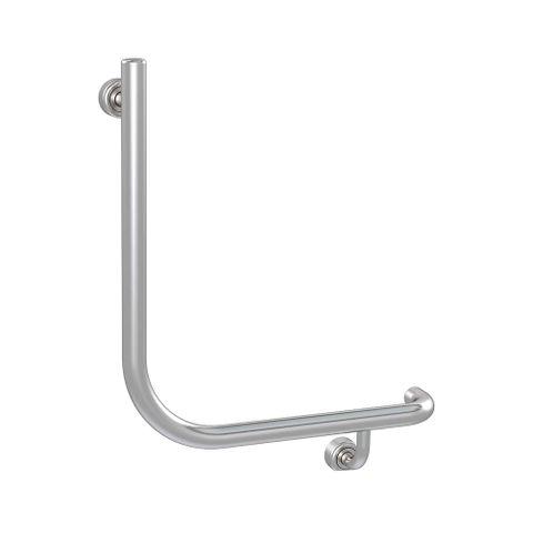 Linear Toilet Rail SS 450x450mm - RH