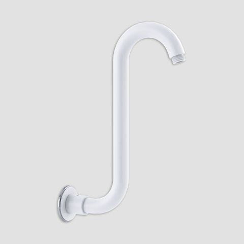 Swan Neck Rising Arm - White/Chrome