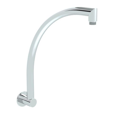 Swan Neck Shower Arm - Chrome