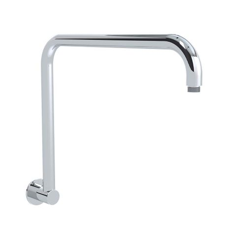 Crane Neck Shower Arm 330mm Chrome - 12L/min