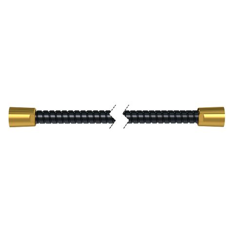 1500mm Softflex Spiral PVC Hose - Black/Gold