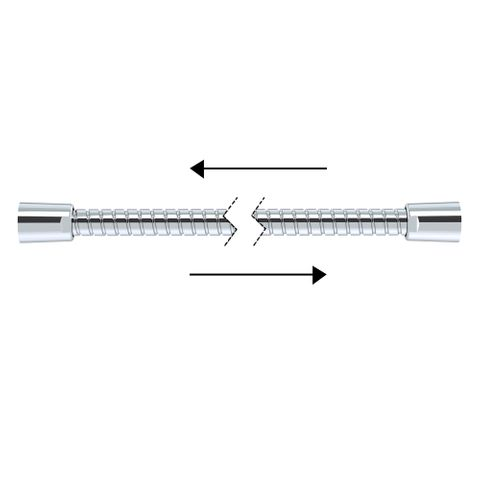 1500mm Double Agraff Metal Hose - Chrome