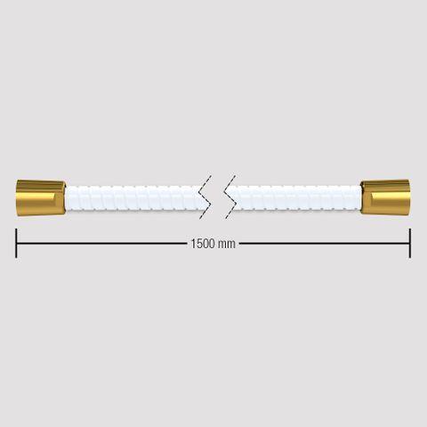 1500mm Softflex Spiral PVC Hose - White/Gold