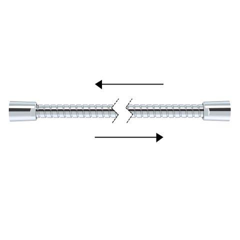 2000mm Double Agraff Metal Hose - Chrome