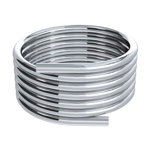 25m Silverflex Smooth PVC Hose - Chrome