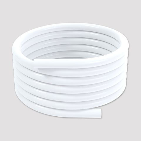 25m Reinforced Softflex Smooth PVC Hose - White