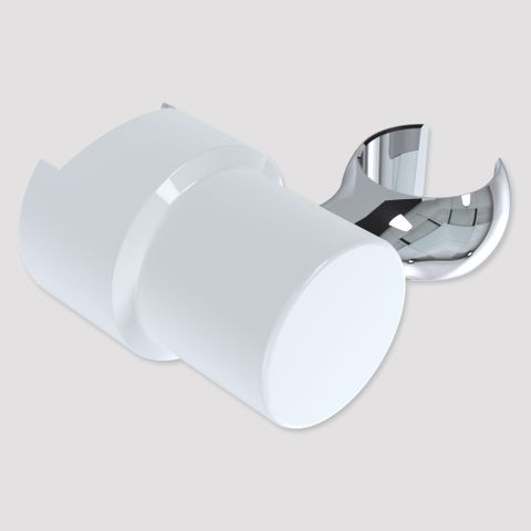 Brass Friction Glide Slide Cradle - White/Chrome