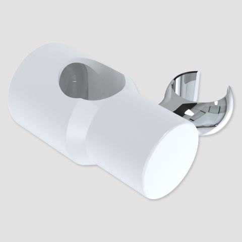 Brass Glide Slide Cradle - White/Chrome
