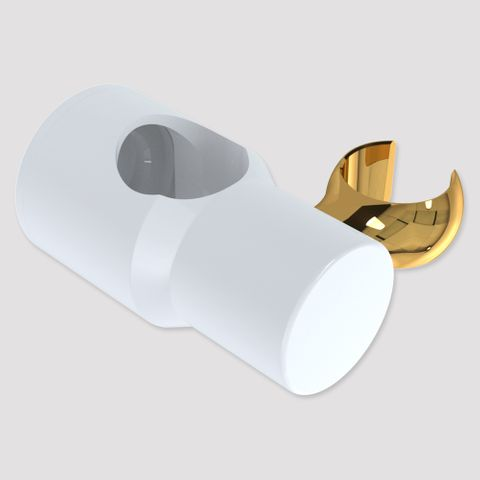 Brass Glide Slide Cradle - White/Gold